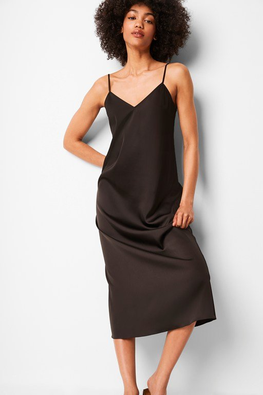 soft fluid maxi slip dress