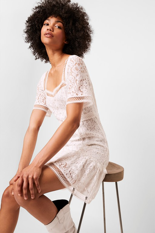 amisha lace panelled dress