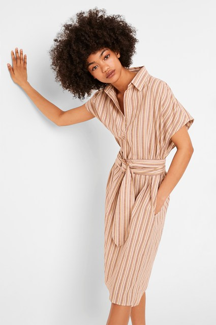 Verve Stripe Belted Dress