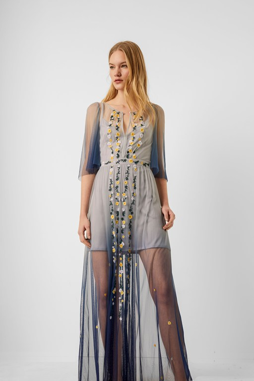 amana embroidered ombre maxi dress