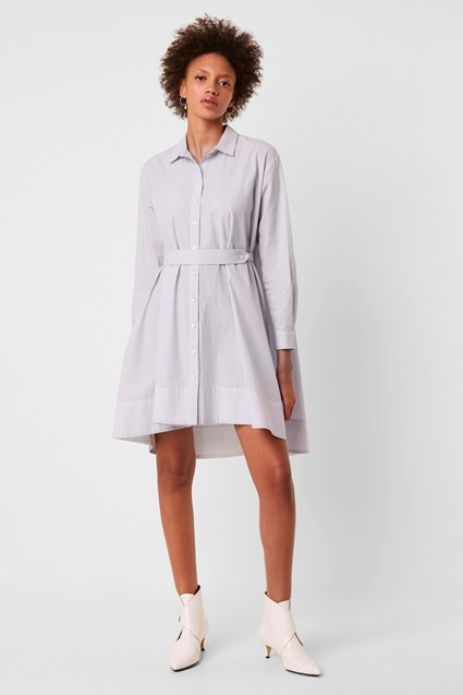 Sibyl Cotton Belted Shirt Dress