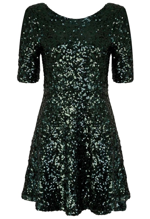 Ozlem Sequin Flared Dress