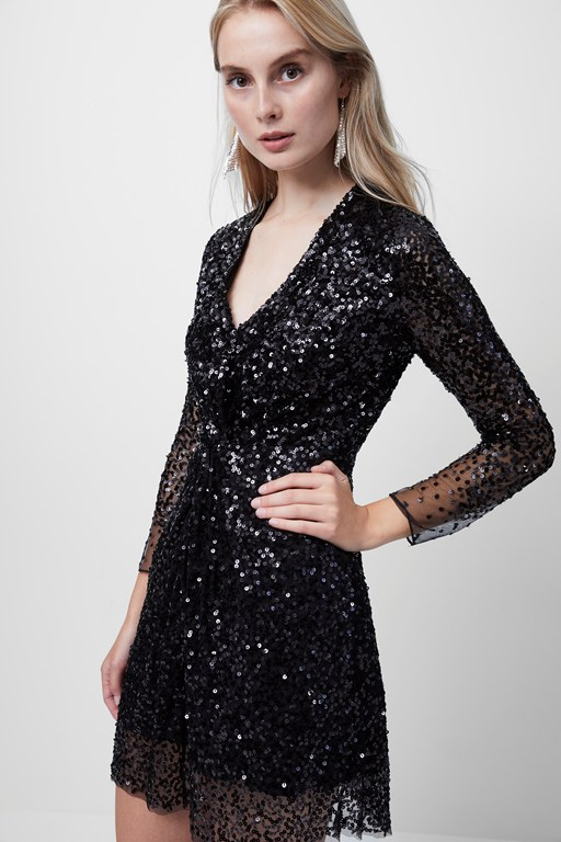 emille sparkle short dress