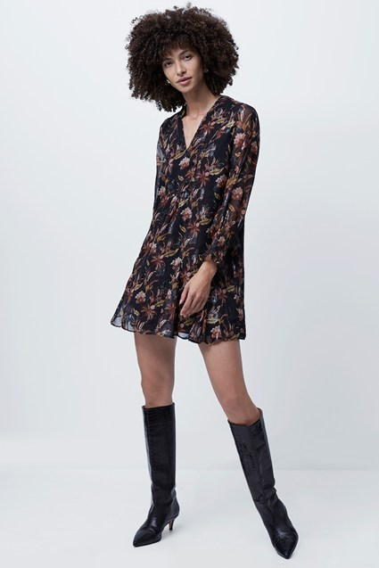 Desta Fil De Coupe Smock Dress