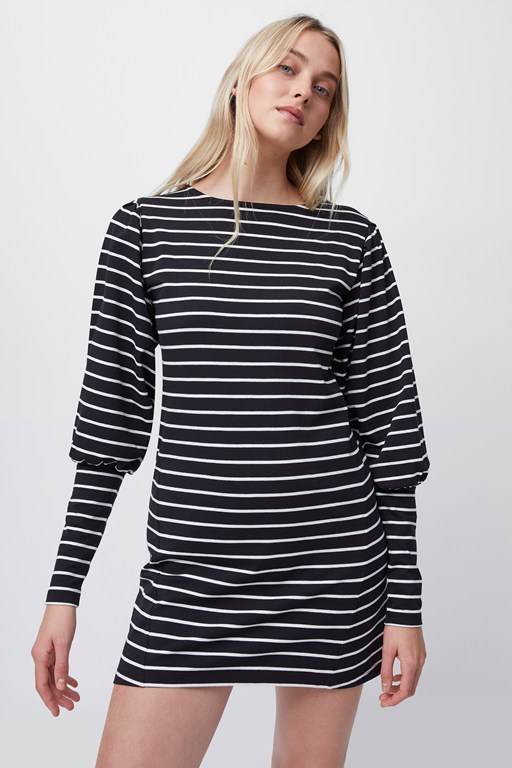 Complete the Look Sally Breton Stripe Jersey Dress