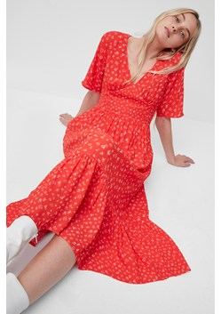 Fayola Drape Midi Tea Dress