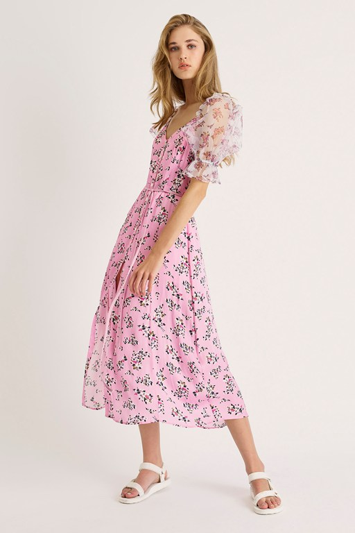 elitan river daisy drape dress