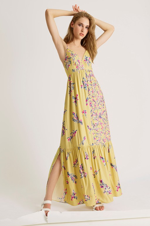 flores dua drape strappy dress