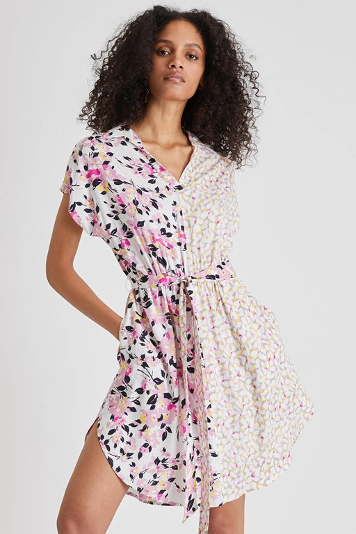 yulia printed shirt dress