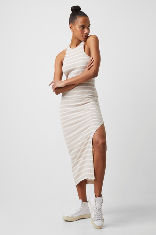 tommy ribbed jersey dress