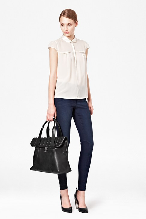 Glacier Silk Cap Sleeve Top