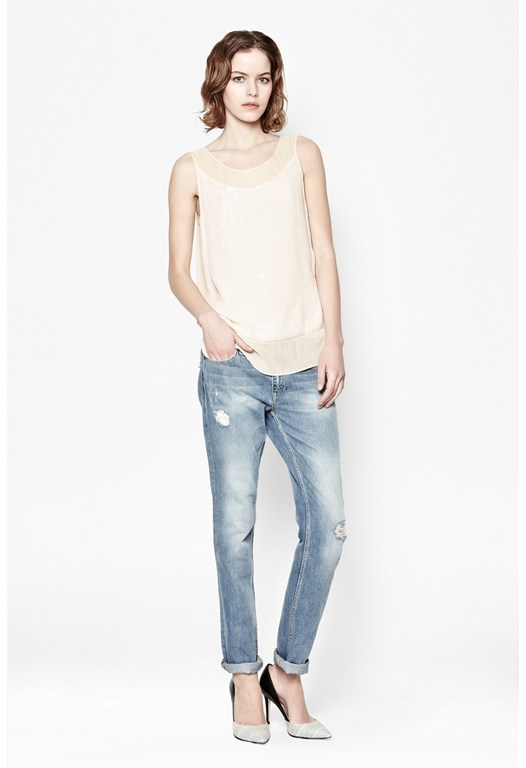Riviera Mist Sequin Top