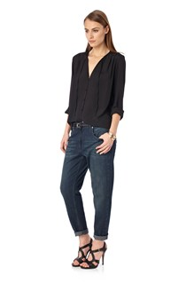 Sub Silky Collarless Shirt