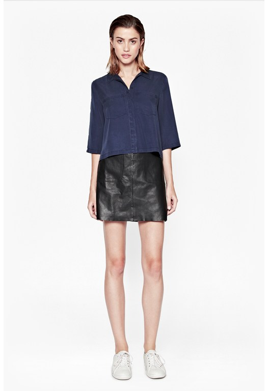 Cobalt Cropped Shirt