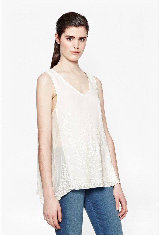 Immi Flower Embroidered Top