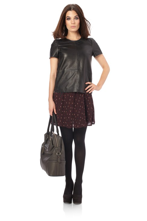 Navajo Leather Top