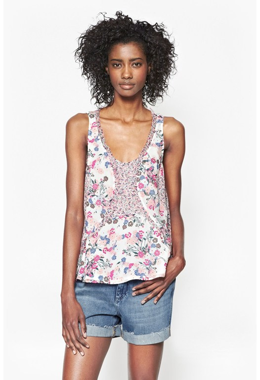 Water Garden Chiffon Top