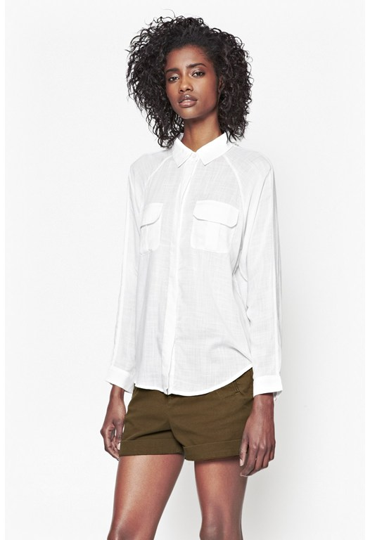 Summer Slub Classic Cotton Shirt