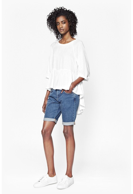 Summer Slub Poplin Top