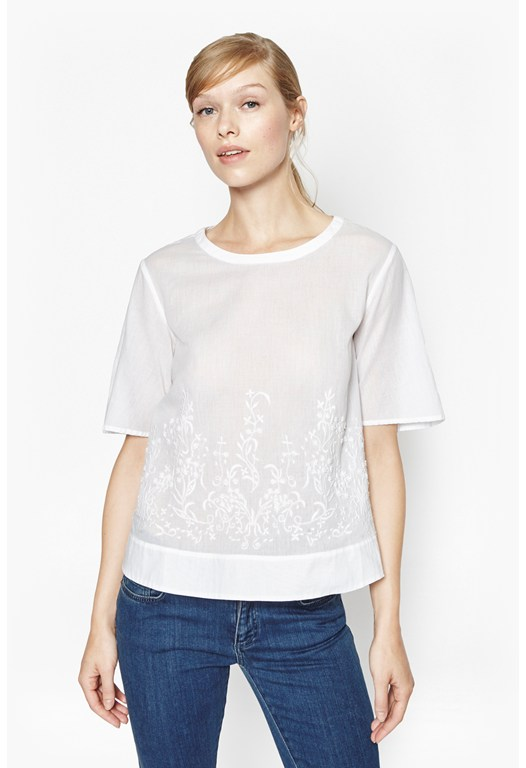 Delphine Embroidered Cotton Top