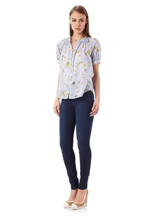 Spring Bloom Voile Top