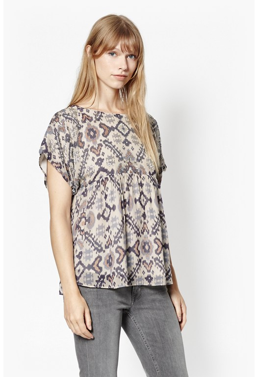 Yoko Embellished Georgette Top