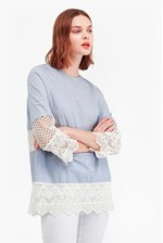 Looks Great With Kyra Cotton Lace Crochet Tunic