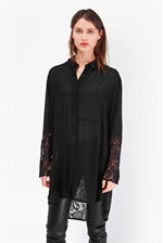 Looks Great With Taza Lace Oversized Shirt