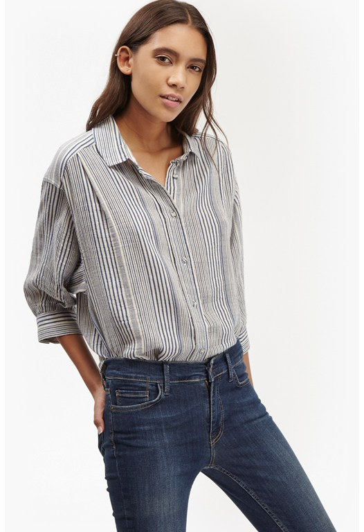 Serge Stripe Holiday Shirt