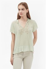 Looks Great With Blythe Stitch Embroidered Blouse