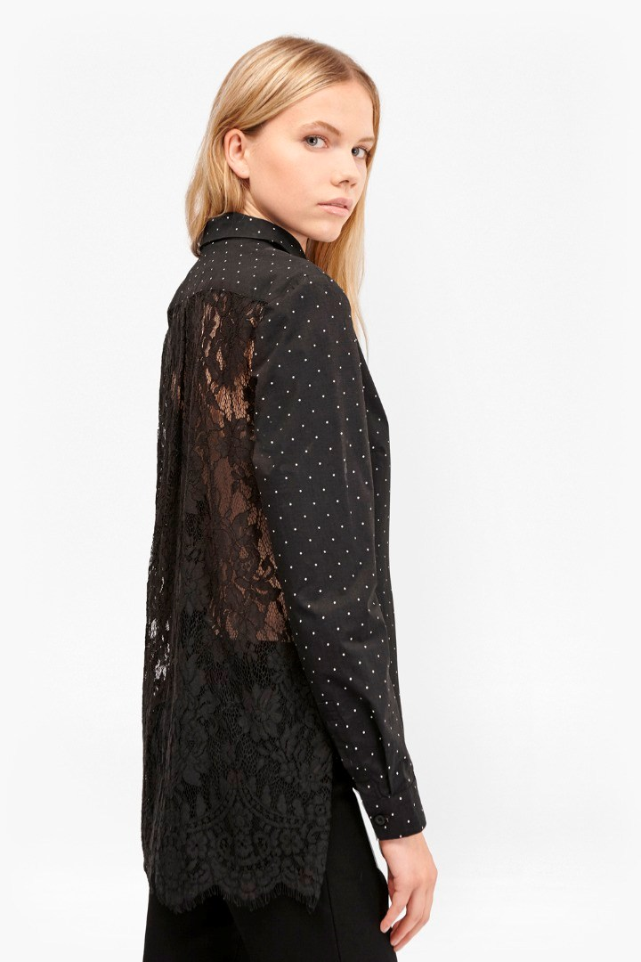 Belle Cotton Lace Back Shirt