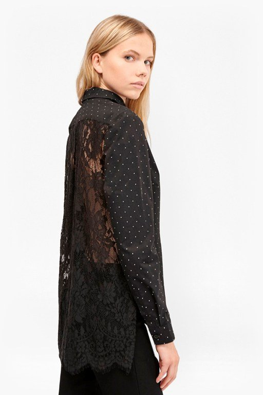 Complete the Look Belle Cotton Lace Back Shirt