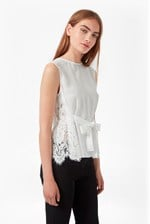 Looks Great With Midnight Plains Tie Up Lace Top