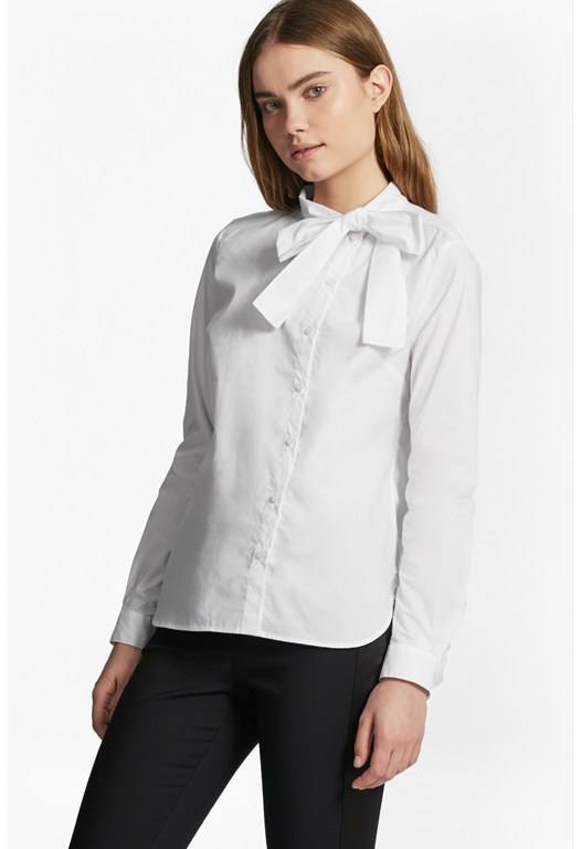 Southside Cotton Neck Tie Blouse