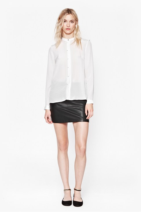 Super Silk Collarless Shirt