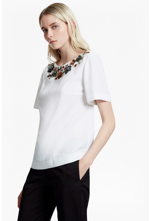 Ernest Floral Embellished Top
