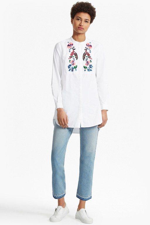 Rothko Cotton Embroidered Shirt