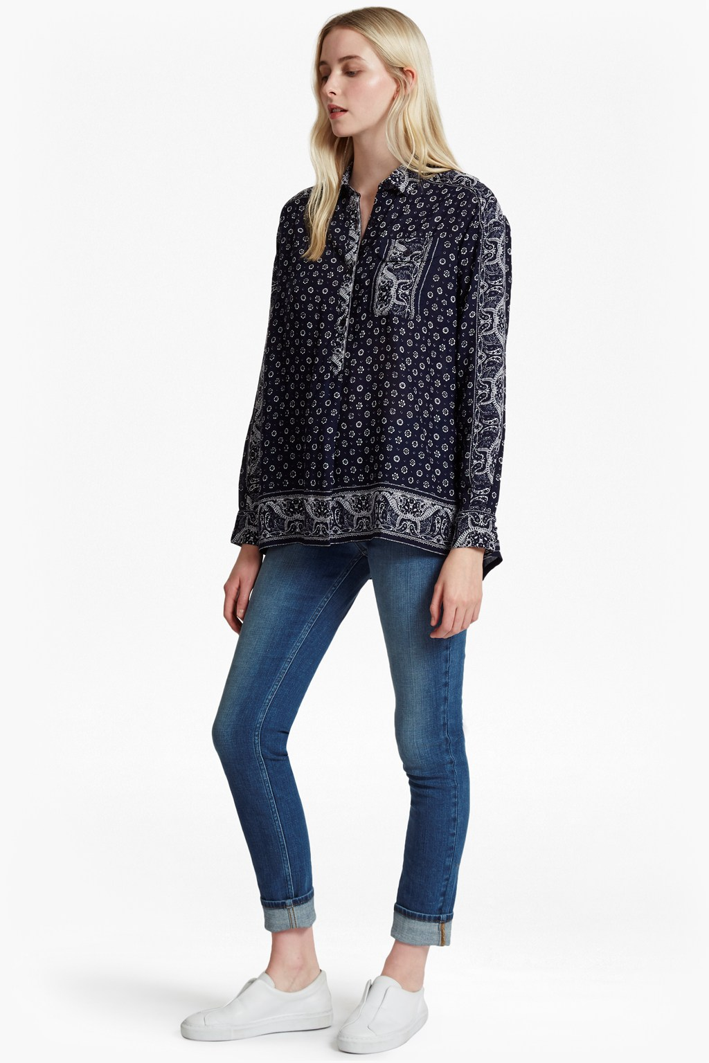 Altman Voile Oversized Pullover Top