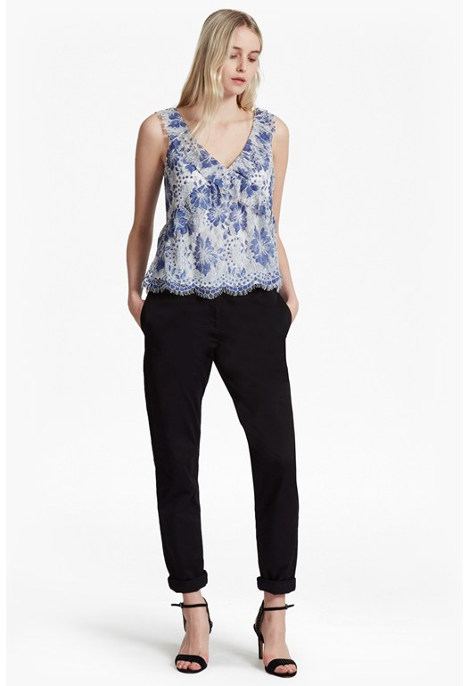 Antonia Lace Sleeveless Top