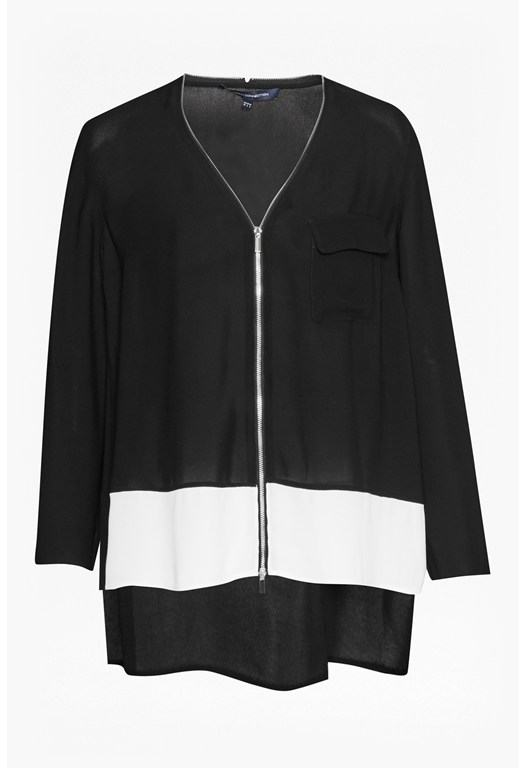Belle Colour Block Zip Top