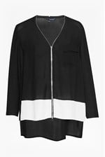 Looks Great With Belle Colour Block Zip Top