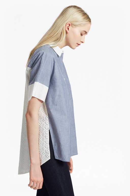 Kyra Cotton Embroidered Short Sleeve Shirt