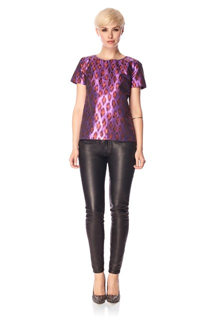 DISCO LEOPARD RD NK TOP
