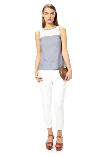 Lois Chambray Sleeveless Top