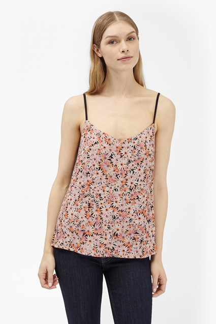 Bacongo Daisy Printed Strappy Top