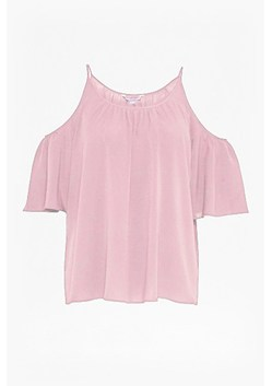 Polly Plains Cut-Out Sholder Top