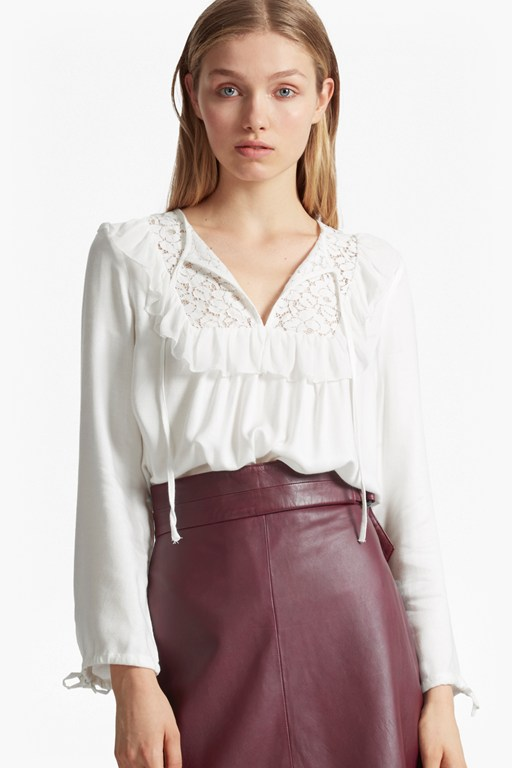 Complete the Look Ariana Sheer Tie Neck Blouse