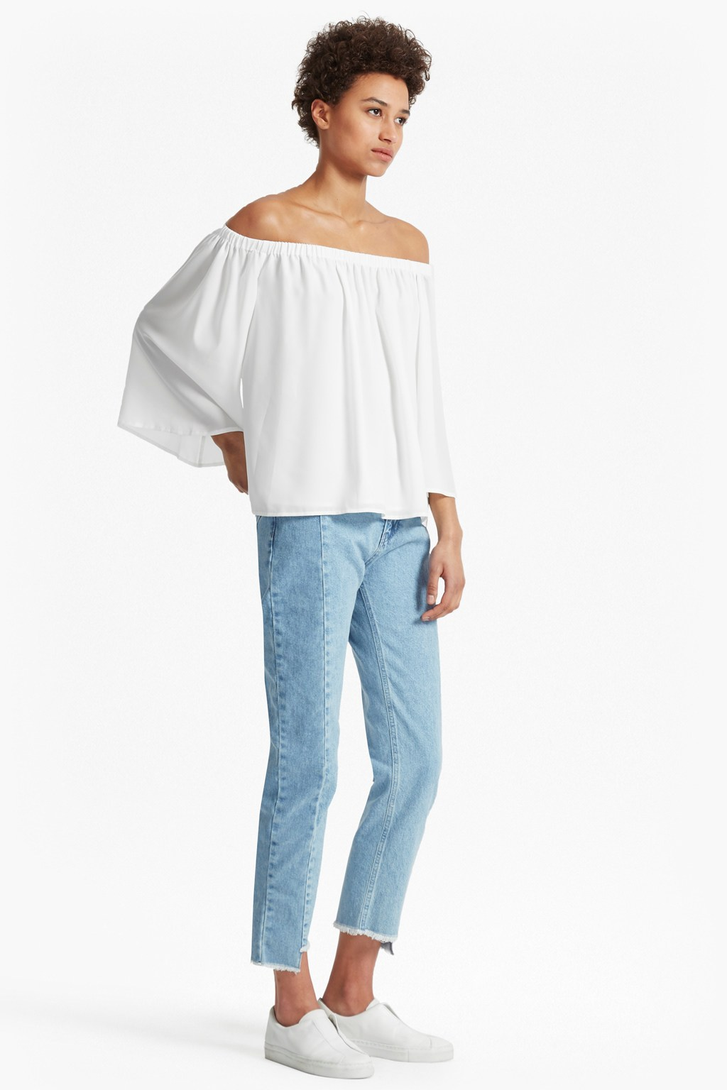 0e7c2622a9b Summer Light Crepe Off The Shoulder Top | Blouses Shirts | French  Connection Usa
