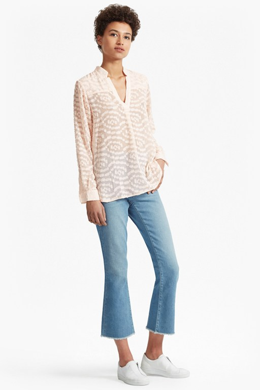 ruby sheer textured shirt