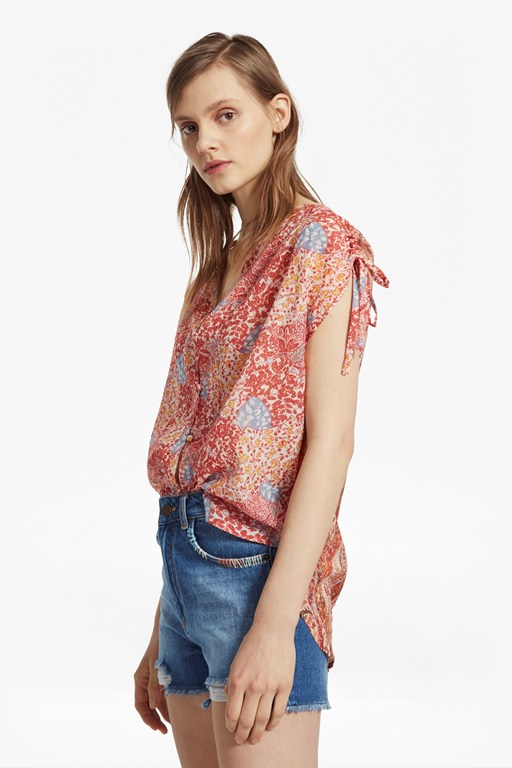 Complete the Look Malika Sheer Paisley Top